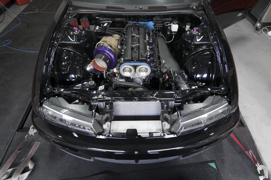 240sx 2JZ Turbo Setup